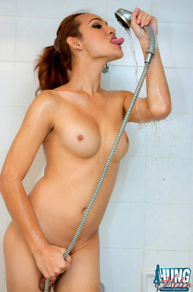taugust1909a Asian Ladyboy Hung Helen Has Some Kinky Shower Fun!
