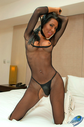 Areeya in Fishnet Body Stocking!