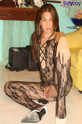 t ivory piladyboy 02 Filipino Shemale Ivory In Bodystocking On PiLadyboy!