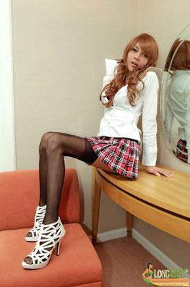 Ladyboy LongMint - Schoolgirl!