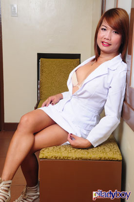 t kristine piladyboy 02 Ladyboy Kristine Is Pristine For Work On PiLadyboy!