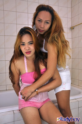 t ladyboyweb francine marina piladyboy 01 Ladyboys Francine And Marina At Play On PiLadyboy!